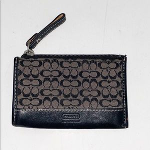 Coach Women's Black Signature C Key/Card Wallet